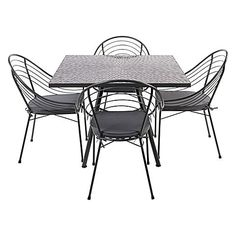 Original and stylish, the Tapuka 5-Piece Outdoor Dining Set from Living by Design completes your outdoor entertaining space with a touch of colour for summer.