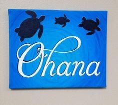 Ohana sea turtle Family painting by BeachLifeByAshley on Etsy