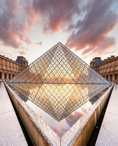 Parisville Instagram. The Louvre Pyramid.