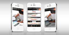 Application Iphone Demain le livre by julia bruyneel, via Behance