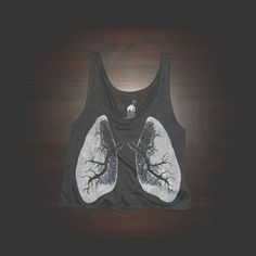 Crop Top Urban XRay Lungs Shirt for Women by BatHouseDesign, $17.99
