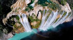 This is Tamul with 105 meters is one of the biggest waterfalls in Mexico