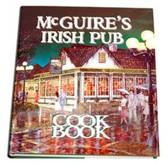 McGuire's Irish Pub - Pensacola, FL.   I couldn't find a picture of the sign or food but apparently they have a cookbook! Very fun restaurant, minus the bagpipes constantly playing... those things are loud. They have a wonderful 89 cent bean soup and all of their meat is delicious!
