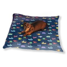 Uneekee Planes And Cars Dog Pillow Luxury Dog / Cat Pet Bed