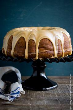 Pumpkin- Cream Cheese Bundt Cake with Brown Sugar Glaze