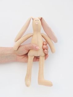 Stuffed bunny rabbit hare doll Easter bunny by HappyDollsByLesya