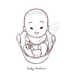 Baby Daehan - Art by shandyclaws on Instagram