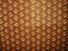 Victorian 1860 to 1880 Cotton Brown Calico Fabric Yardage SOLD