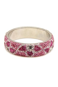 Pink Jeweled Bangle.