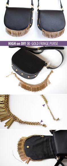 high on GOLD FRINGE PURSE diy