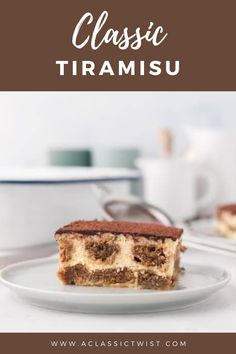 This classic tiramisu recipe has everything the comforting desserts boasts. Filled with mascarpone cream and coffee-soaked ladyfingers and cocoa powder, you are sure to love this. #aclassictwist #tiramisu #recipe