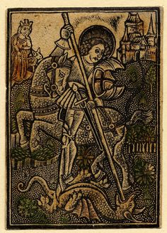 Saint George, metal with hand-colouring, 1455-1500