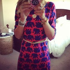 cute elephant dress; photo by klrsouthernlove look who's famous! #lillylove