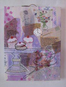 "Mad Tea Party Series 2011/2012 ""What Wonderful Tea""Textiles, mixed media, vintage treasures, machine & hand stitch"