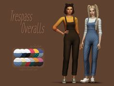 Sims 4 CC's - The Best: Trillyke - Trespass Overalls