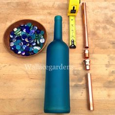 Wine Bottle Watering Device With Copper Tubing, for Container Gardens. DIY instructions.