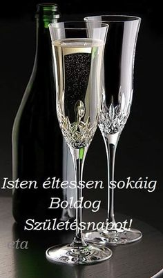 Happy Brithday, Flute, Champagne, Hungary, Tableware, Birthday, Happy Birthday, Dinnerware, Birthdays