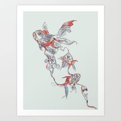 Floating in Deep Art Print by Chalermphol Harnchakkham for sale