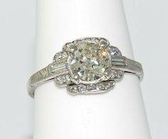 Vintage European cut diamond