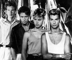 Depeche Mode.....They were SO young!!! This is from around 1980 when the band first started. They were all around 18 & 19 years old. Now, Dave Gahan is 51 and Martin Gore is 52