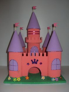 piñata castillo frozen - Buscar con Google Math Projects, Small Sewing Projects, Toilet Paper Roll Crafts, Paper Crafts, Diy Crafts, Diy For Kids, Crafts For Kids, Arts And Crafts, Classroom Crafts