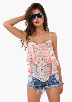 Neon Bloom Layered Tank | Shop for Neon Bloom Layered Tank Online
