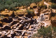The Ruins of Ancient Sparta: Sparta was a Greek city-state that rose to prominence around 650 BCE.  The Spartans were known for their austere way of life and military prowess.
