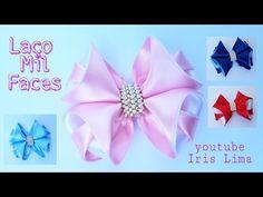 Laço Fita De Cetim   Laço Mil Faces   DIY  PAP  TUTORIAL  Iris Lima - YouTube