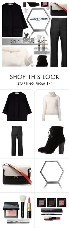 """""""David and Martin Jewellery 11"""" by anyasdesigns ❤ liked on Polyvore featuring Marni, Maiyet, Charlotte Russe and Bobbi Brown Cosmetics"""