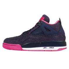 Nike Girls Air Jordan 4 Retro GS Denim Kids Womens Basketball Shoes 487724-408
