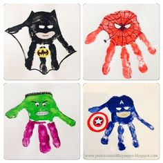5 Superhero Crafts for Kids - The Chirping Moms Daycare Crafts, Baby Crafts, Preschool Crafts, Fun Crafts, Daycare Rooms, Toddler Art, Toddler Crafts, Toddler Activities, You Are My Superhero