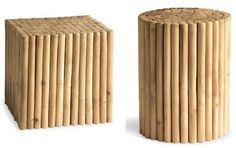 very cool bamboo stools ;)
