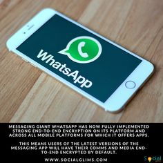 WhatsApp completes end-to-end encryption rollout __________ Messaging giant WhatsApp has now fully implemented strong end-to-end encryption on its platform and across all mobile platforms for which it offers apps.  This means users of the latest versions of the messaging app will have their comms and media end-to-end encrypted by default.  End-to-end encryption means the content of communications are not stored in plaintext on WhatsApp's servers.