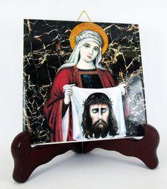 Hey, I found this really awesome Etsy listing at https://www.etsy.com/listing/200740163/saint-veronica-christian-art-catholic