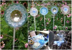 Glass Garden Art Flowers