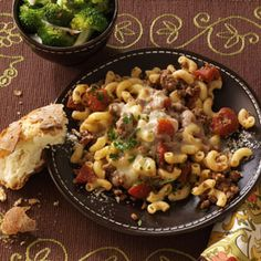 Stovetop Italian Macaroni Quick Dinner Recipe from Taste of Home -- Submitted by Laila Zvejnieks, Stoney Creek, Ontario