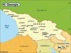 Map of Republic of Georgia.