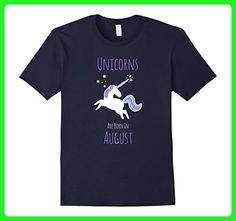 Mens Unicorn Novelty T Shirt For August Birthdays 3XL Navy - Fantasy sci fi shirts (*Amazon Partner-Link)