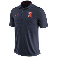 Nike Men's Illinois Fighting Illini Blue Early Season Football Polo, Size: Medium, Team