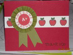 Teacher's card