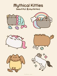Gato Pusheen, Pusheen Love, Pusheen Unicorn, Kawaii Drawings, Cute Drawings, Crazy Cat Lady, Crazy Cats, Image Chat, Nyan Cat