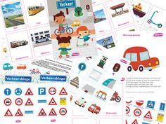 """Geweldig pakket thema """"Verkeer"""" 41 pagina's uniek materiaal voor maar €5,00 via https://www.doenkids.nl/product/doenkids-verkeer-totaalpakket/"""