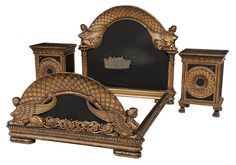 Brunk Auctions - Egyptian Revival Carved Gilt and