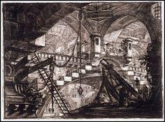 Giovanni Battista Piranesi, Carcere, Carceri d'invenzione, ca.1761.