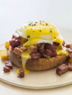 Corned Beef Hash Eggs Benedict recipe