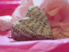 How To Make: Paper Mache Hearts For Valentine's Day! EC