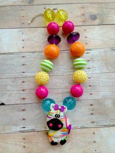 RAINBOW MULTI STRIPED ZEBRA Chunky Bubblegum Necklace on Etsy, $20.00 Chunky Bead Necklaces, Bubble Necklaces, Chunky Jewelry, Chunky Beads, Girls Necklaces, Beaded Jewelry, Beaded Necklace, Little Girl Jewelry, Girls Jewelry