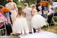 Too cute!  I wish they made these flower girl dresses in my size! | Colorado Wedding | Brook Forest Inn, Evergreen