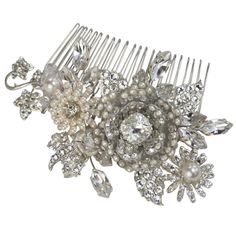 Halo and Co Honeysuckle Comb - Bridal Jewellery - Crystal Bridal Accessories