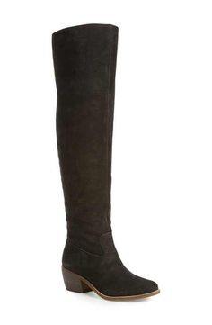 51d54779131 Lucky Brand Women s Riddick Lace-Up Over-The-Knee Boots
